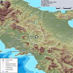 Ore 14.08: la terra trema, terremoto con epicentro Buonalbergo