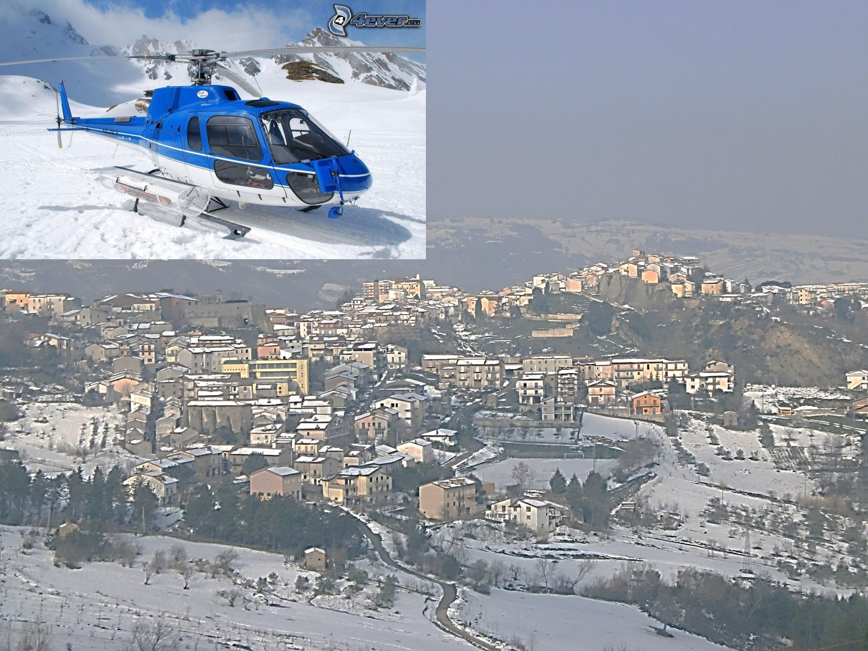 L Elicottero Posizione : Tramonti un elicottero per spegnere l incendio divampato a
