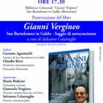 """Presentazione del libro """"Gianni Vergineo"""""""